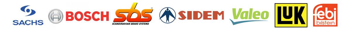 Logoene til noen av leverandørene våre