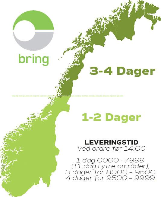 Leveringstid på Norgeskart